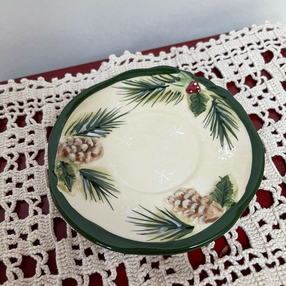 Yankee candle country woodland votive plate